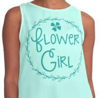 Flower girl (in a pretty bloom wreath) Contrast Tank