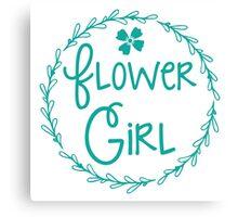 Flower girl (in a pretty bloom wreath) Canvas Print