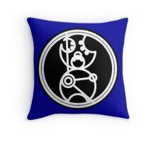 Time Lord - Circular Gallifreyan Throw Pillow