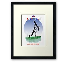 Keep Calm Old Father Time - tony fernandes Framed Print