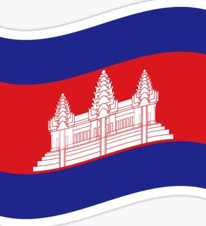 Cambodian Khmer Flag Wave Sticker