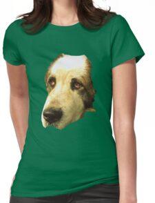 big sad dog Womens Fitted T-Shirt