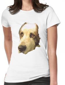 big sad dog Womens Fitted T-Shirt