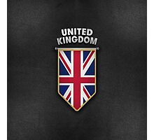 UK Pennant with high quality leather look Photographic Print