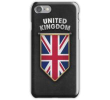 UK Pennant with high quality leather look iPhone Case/Skin