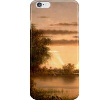 Martin Johnson Heade - Florida Sunrise 1890 iPhone Case/Skin