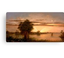 Martin Johnson Heade - Florida Sunrise 1890 Canvas Print