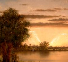 Martin Johnson Heade - Florida Sunrise 1890 Sticker