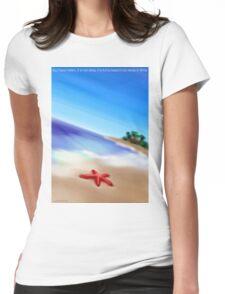 You have fallen, it is not okay, it is Echo beach, far away in time. Womens Fitted T-Shirt