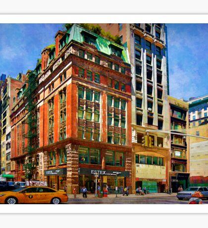 Manhattan Street Scene Sticker