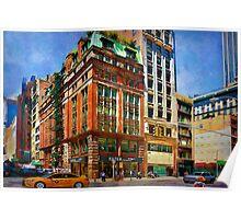 Manhattan Street Scene Poster
