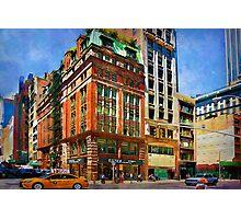 Manhattan Street Scene Photographic Print