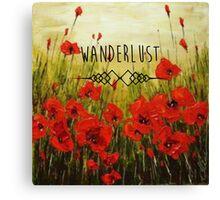 Wanderlust-Poppy Canvas Print