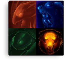 The four icons of Udyr Canvas Print