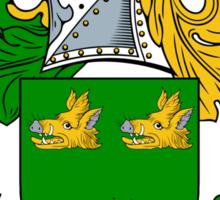 Black Coat of Arms / Black Family Crest Sticker