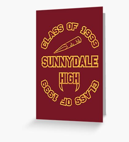 Sunnydale Class of 1999 Greeting Card