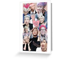 Pastel Namjoon Collage  Greeting Card