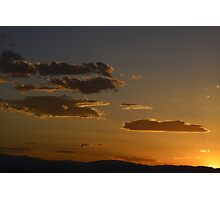 Cloudy sunset 6-14 Photographic Print