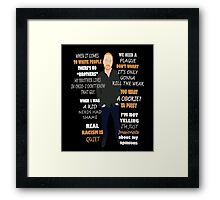 Bill Burr Quote Framed Print