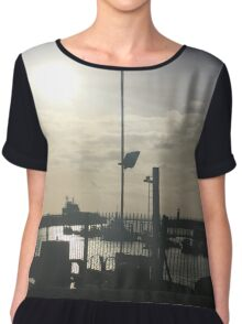 The harbour in winter Chiffon Top
