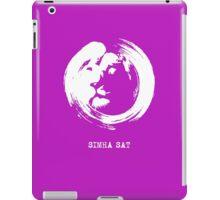 SIMHA SAT (LION TRUTH) logo iPad Case/Skin