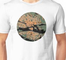 Stockholm city map orange Unisex T-Shirt