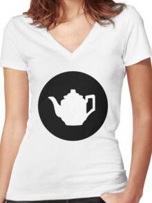 Teapot Women's Fitted V-Neck T-Shirt