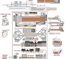 Pegasus Bridge 1/300 Wargaming model by Radwulf