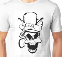 Rock and Fangs in a top hat - Cat Ann Riesner Unisex T-Shirt