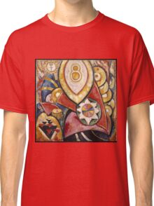 Marsden Hartley - Painting No. 48. Abstract painting: abstract art, geometric, expressionism, composition, lines, forms, creative fusion, spot, shape, illusion, fantasy future Classic T-Shirt
