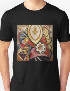 Marsden Hartley - Painting No. 48. Abstract painting: abstract art, geometric, expressionism, composition, lines, forms, creative fusion, spot, shape, illusion, fantasy future Unisex T-Shirt