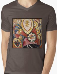 Marsden Hartley - Painting No. 48. Abstract painting: abstract art, geometric, expressionism, composition, lines, forms, creative fusion, spot, shape, illusion, fantasy future Mens V-Neck T-Shirt