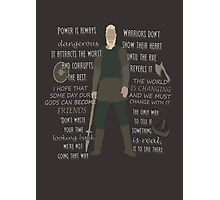 Ragnar Lothbrok Quotes Photographic Print