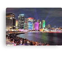 City Skyline 4 Vivid 2016 Canvas Print