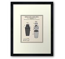 Cocktail Shaker Patent Framed Print
