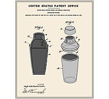 Cocktail Shaker Patent Photographic Print