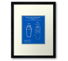 Cocktail Shaker Patent - Blueprint Framed Print