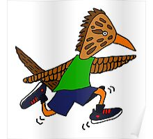 Funny Funky Jogging Roadrunner Poster