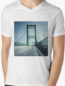 San Pedro - Vincent Thomas Bridge Mens V-Neck T-Shirt