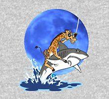 giraffe blue moon Unisex T-Shirt