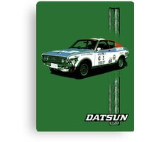 Datsun Violet 1977 KP711 - Stripe Canvas Print