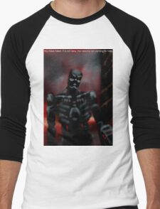 You have fallen, it is not okay, the robot is not here to help. Men's Baseball ¾ T-Shirt