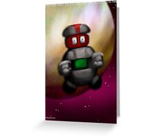 You have fallen, it is okay, the robot is here to help. Greeting Card