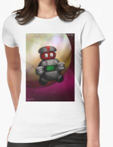 You have fallen, it is okay, the robot is here to help. Womens Fitted T-Shirt