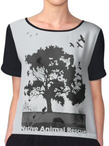 Support Native Animal Rescue Chiffon Top