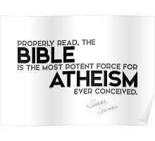 properly read, bible - atheism - isaac asimov Poster