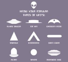 Know Your Types of UFO's Kids Tee