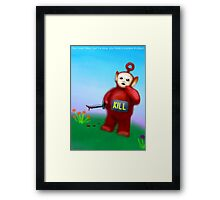 You have fallen, it is okay, you have a loaded shotgun. Framed Print