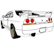 Nissan Skyline R33 GT-R (semi back) Photographic Print