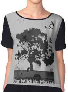 Our Wildlife Matters - Support Native Animal Rescue Chiffon Top